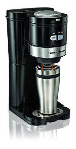Small Coffee Maker Using Pods : Hamilton Beach 49989 Grind and Brew Single Serve Coffeemaker, Small, Black Hot Coffee Pods ...