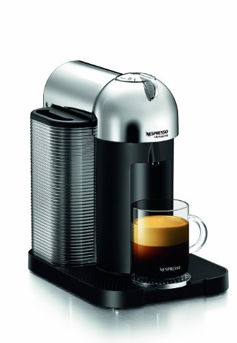 Nespresso GCA1-US-CH-NE VertuoLine Coffee and Espresso Maker, Chrome Hot Coffee Pods cheap k ...