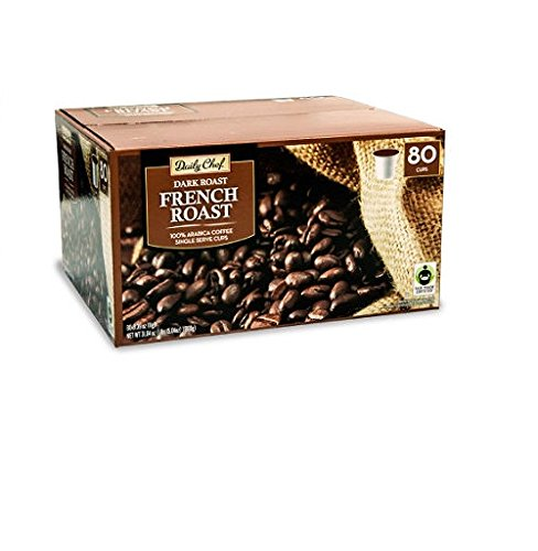 Daily Chef French Roast Coffee Single Serve Cups 80 Ct
