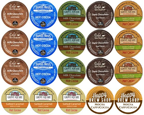 Top Cup Pack : Count top brand hot cocoa k cup variety sampler pack